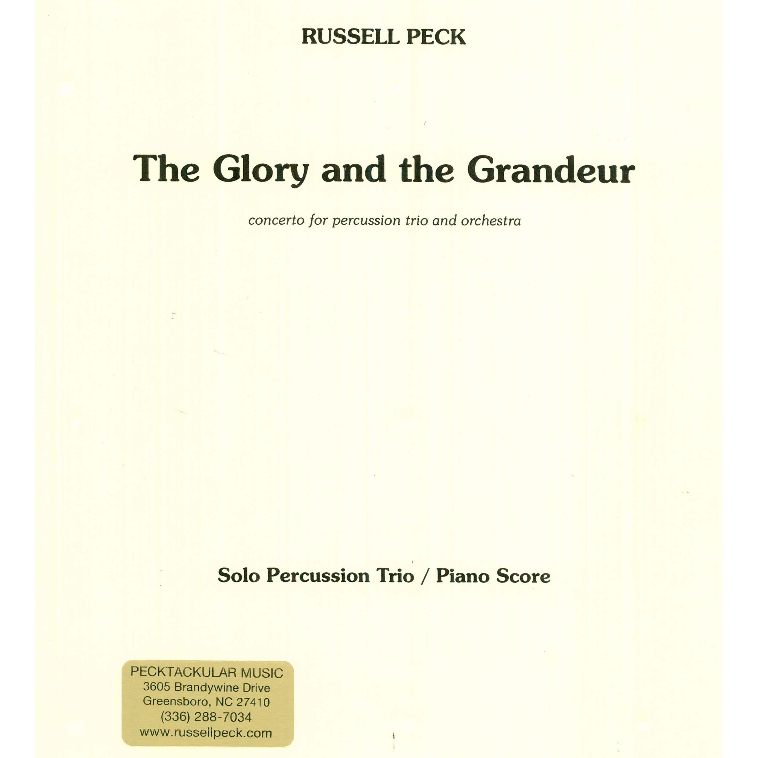 The Glory and the Grandeur by Russell Peck (Piano Reduction)