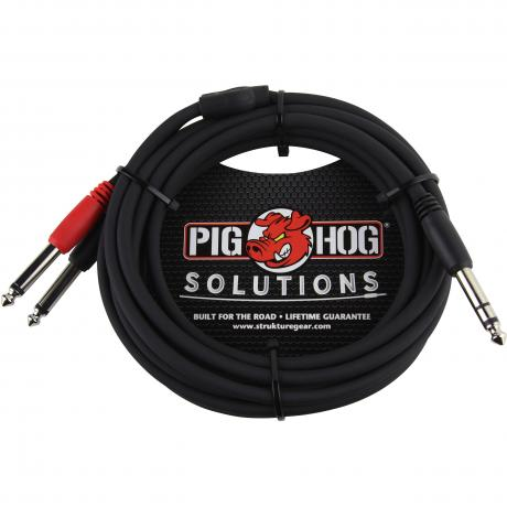 Pig Hog Solutions 10' Male TRS to Dual 1/4