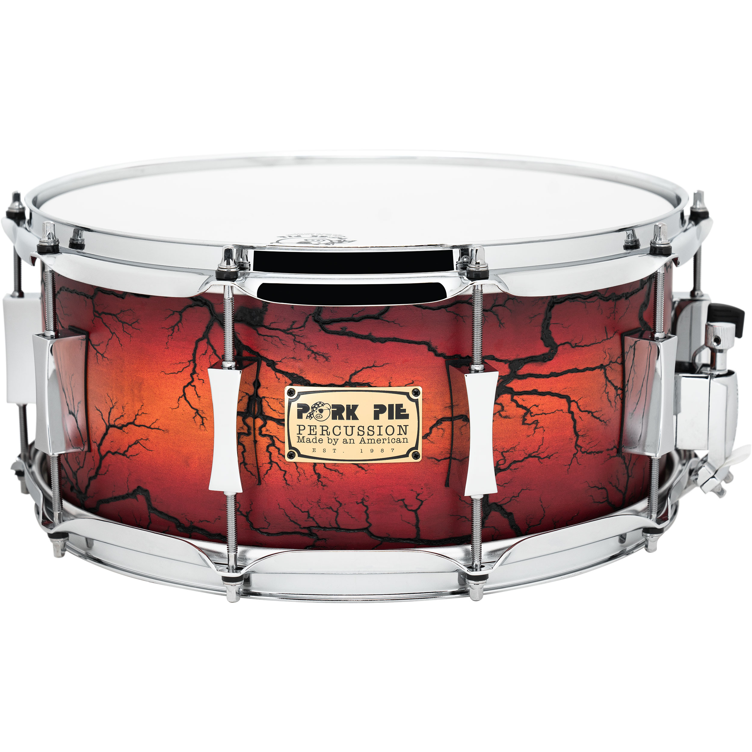 "Pork Pie Percussion 6.5"" x 14"" Snare Drum in Electric Natural"