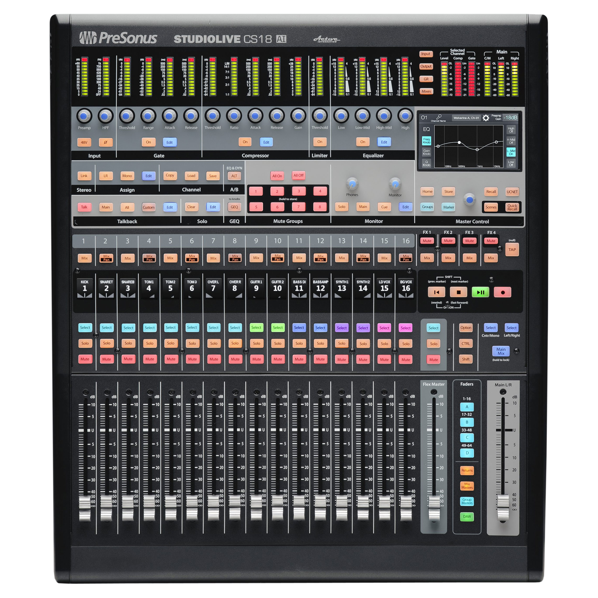 Presonus StudioLive Control Surface for RM Mixers and Studio One