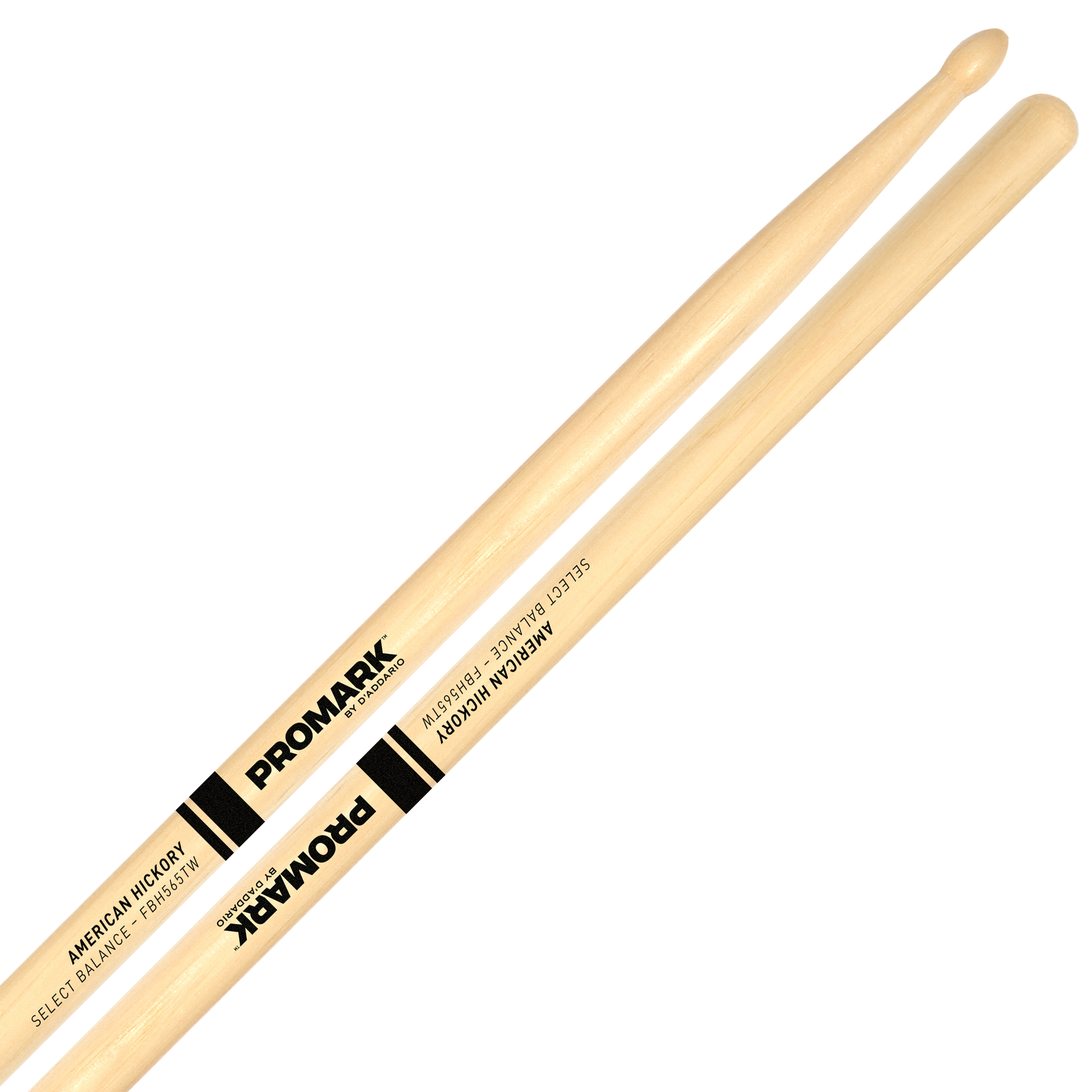 "Promark Forward 5A (.565"") Hickory Drumsticks with Teardrop Wood Tips"