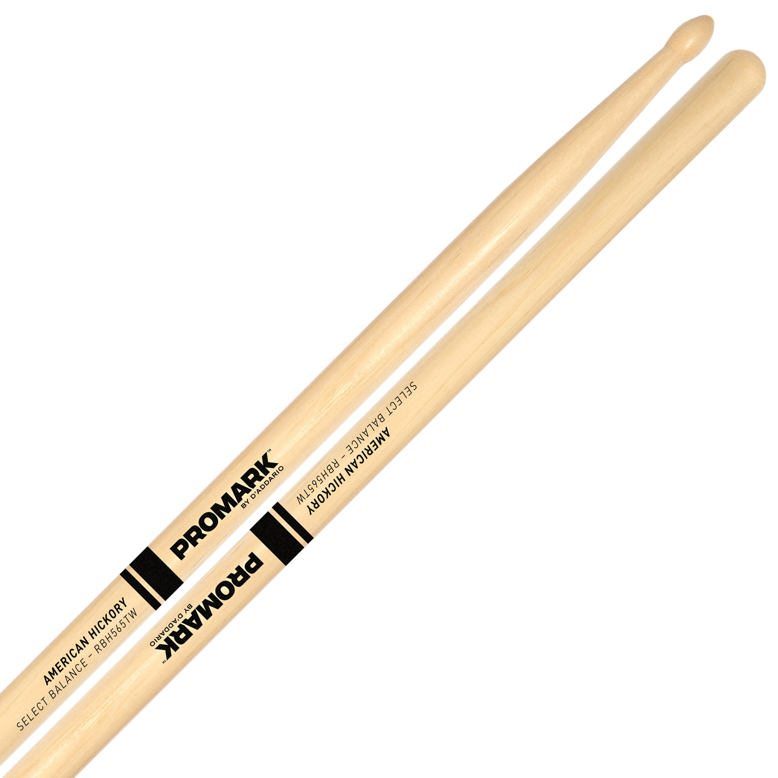 "Promark Rebound 5A (.565"") Hickory Drumsticks with Teardrop Wood Tips"