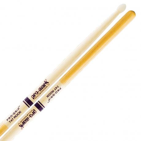 Promark American Hickory 747 Nylon Tip Drum Sticks with Pro-Grip