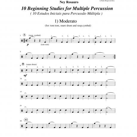 10 Beginning Studies for Multiple Percussion by Ney Rosauro