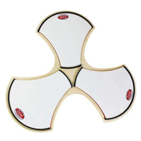 Prologix Percussion White Corps Tri-Sectional Practice Pad