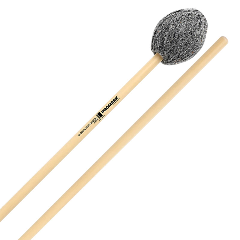 Promark Andrew Markworth Signature Soft Bass Marimba Mallets with Rattan Shafts
