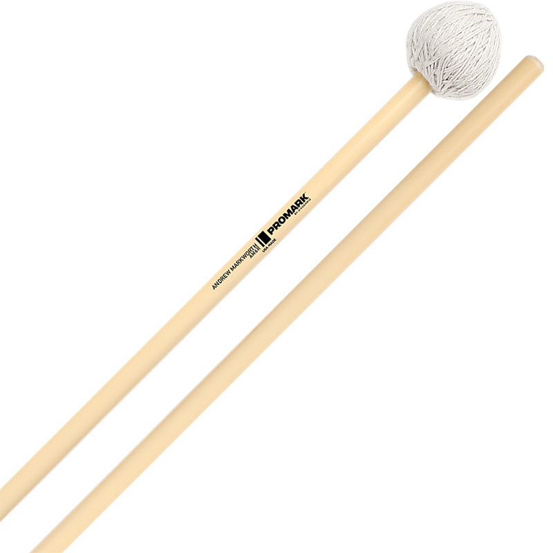 Promark Andrew Markworth Signature Medium Hard Vibraphone Mallets with Rattan Shafts