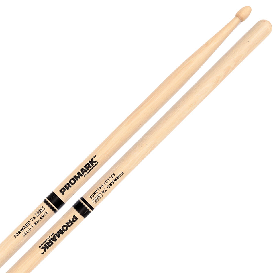 """Promark Forward 7A (.535"""") Hickory Drumsticks with Acorn Wood Tips"""