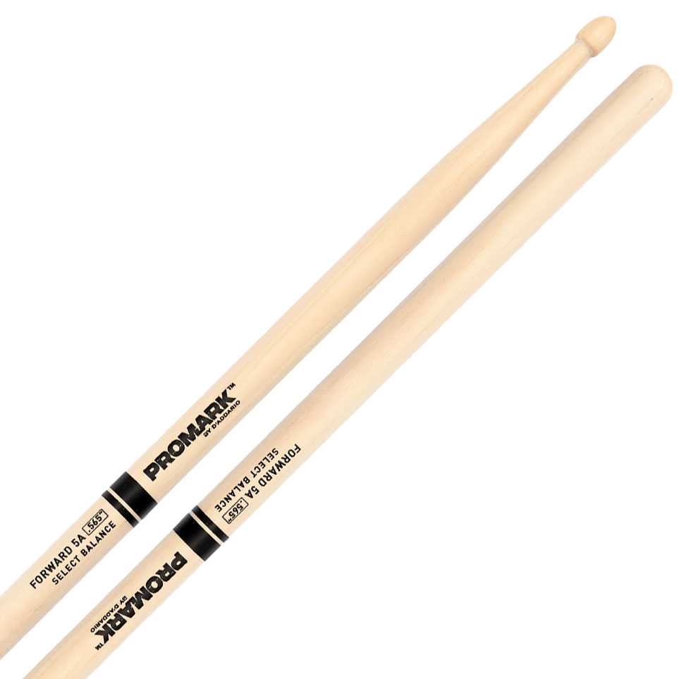 """Promark Forward 5A (.565"""") Hickory Drumsticks with Acorn Wood Tips"""