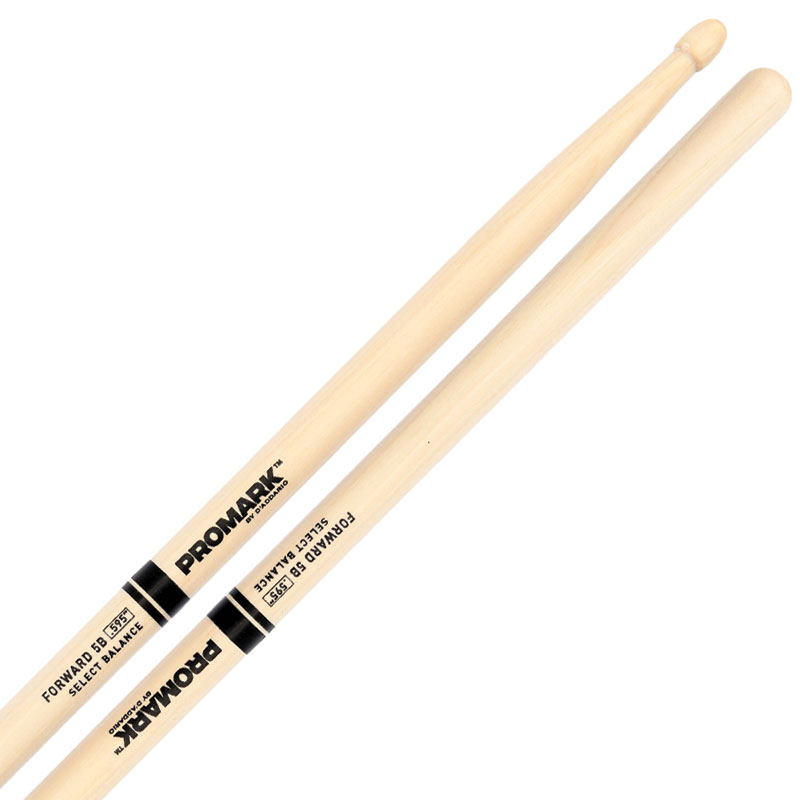 """Promark Forward 5B (.595"""") Hickory Drumsticks with Acorn Wood Tips"""