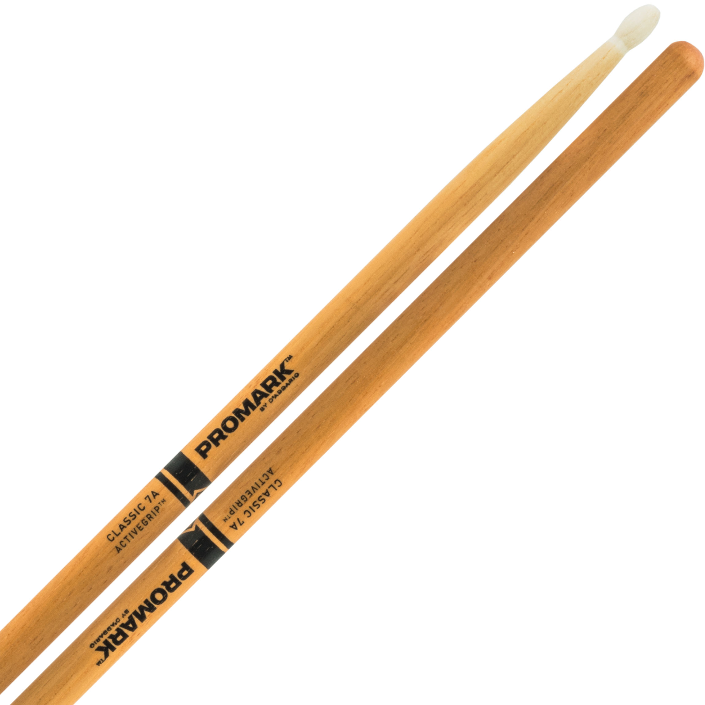Promark Classic 7A ActiveGrip Clear Hickory Drum Sticks