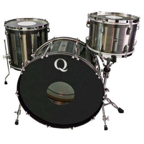 Q Drum Co. Stainless Steel 3-Piece Drum Set Shell Pack (24