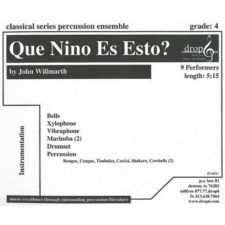 Que Nino Es Esto? by Traditional arr. by John Willmarth