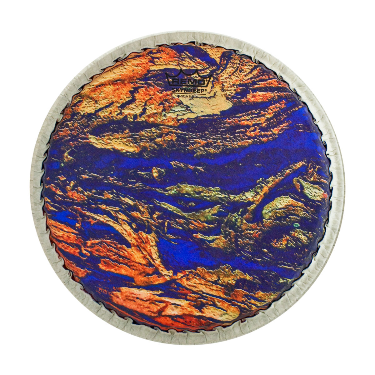 "Remo 8.5"" Tucked Skyndeep Bongo Drum Head with Molten Sea Graphic"