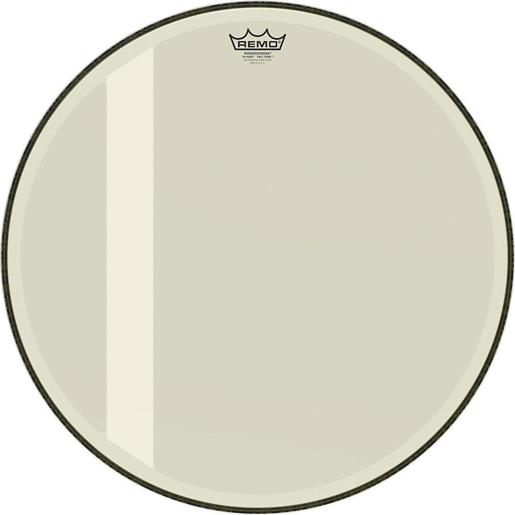 "Remo 22"" Powerstroke P3 Coated Felt Tone Bass Drum Head"