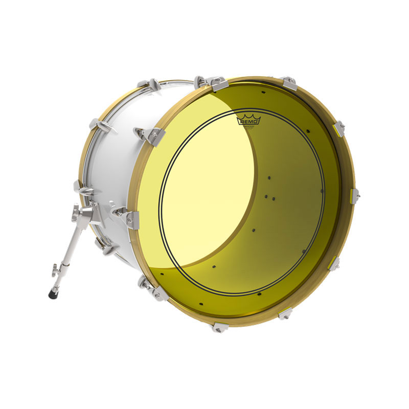 remo 18 powerstroke p3 colortone yellow bass drum head p3 1318 ct ye. Black Bedroom Furniture Sets. Home Design Ideas
