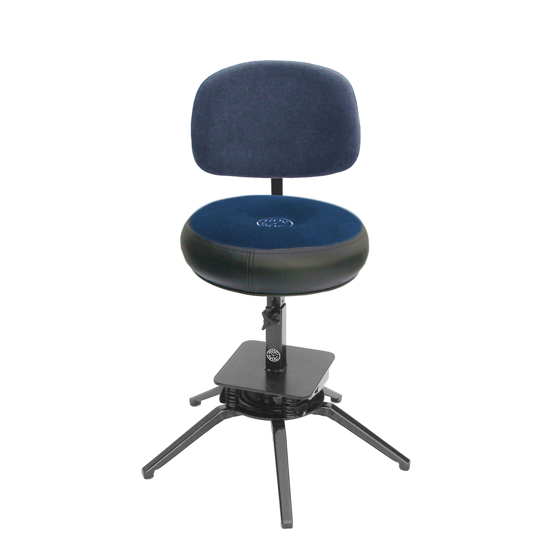 roc n soc motion gas lift drum throne with round seat back rest mtg r w b. Black Bedroom Furniture Sets. Home Design Ideas