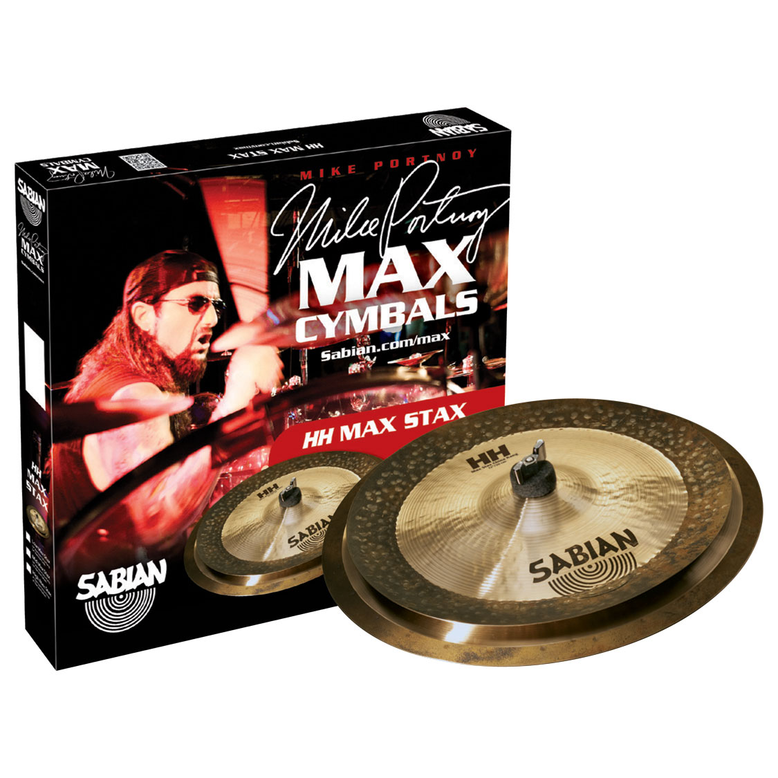 Sabian HH Low Max Stax Pack 2-Piece Cymbal Box Set (Crash, China)