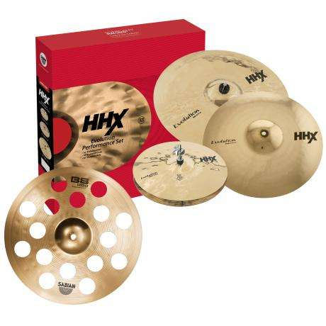Sabian HHX Evolution 4-Piece Cymbal Box Set (Hi Hats, Crash, Ride, FREE Crash)