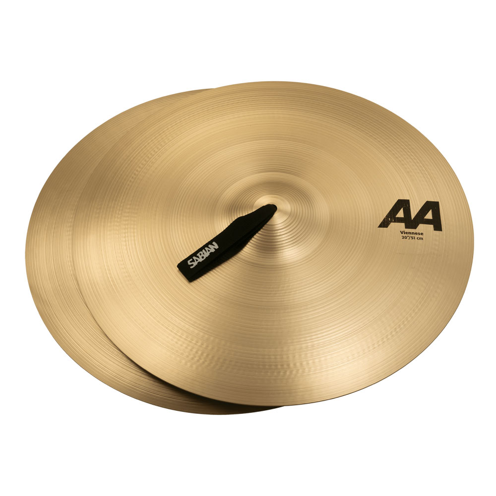"Sabian 20"" AA Viennese Crash Cymbal Pair with Brilliant Finish"