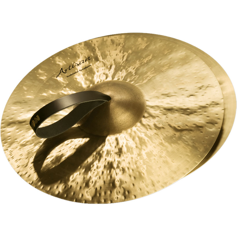 "Sabian 17"" Artisan Traditional Symphonic Medium-Light Crash Cymbal Pair"
