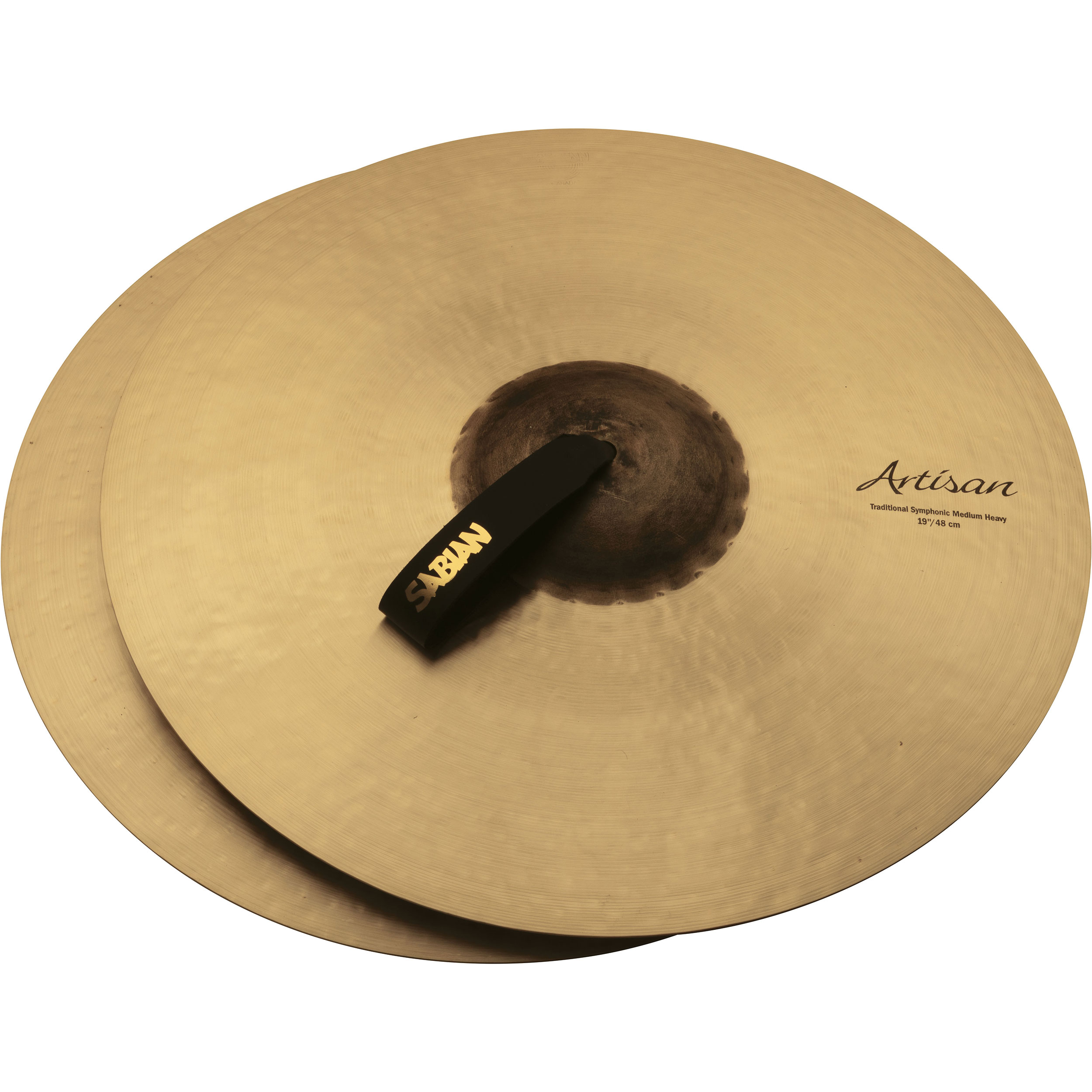 "Sabian 19"" Artisan Traditional Symphonic Medium-Heavy Crash Cymbal Pair"