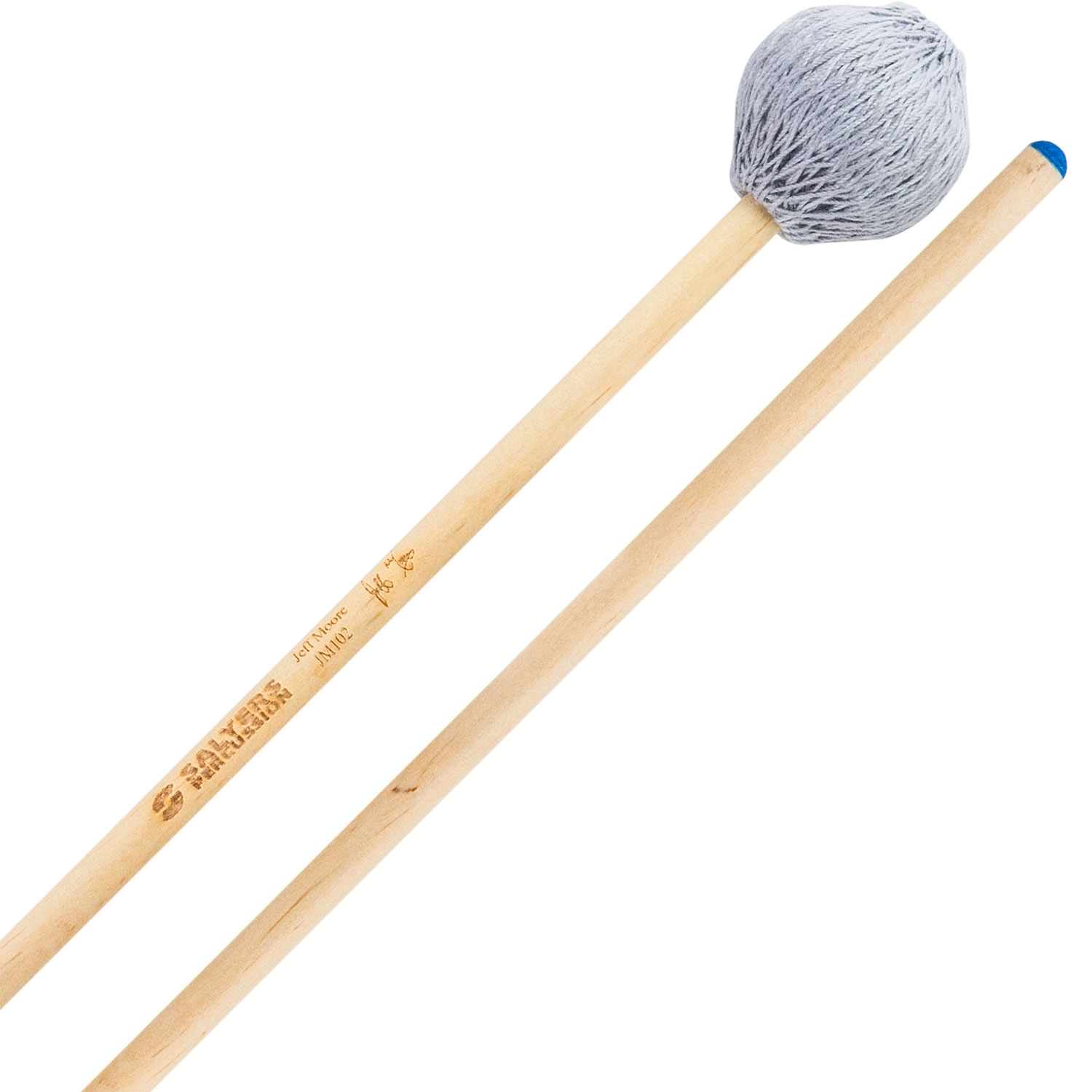 Salyers Percussion Jeff Moore Signature Medium Soft Marimba Mallets with Birch Handles