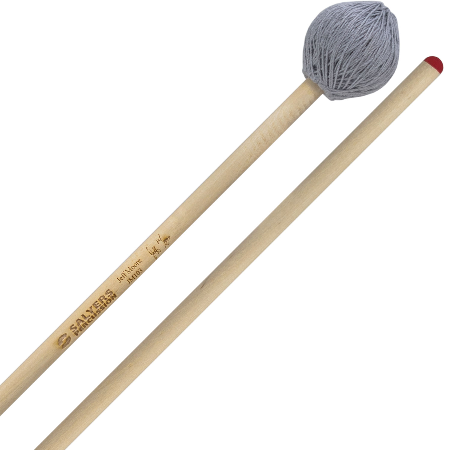 Salyers Percussion Jeff Moore Signature Medium Hard Marimba Mallets with Birch Handles