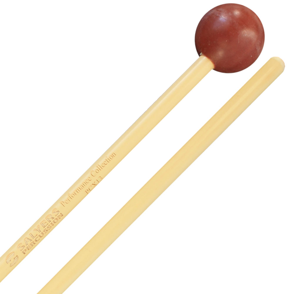 "Salyers Percussion Performance Collection 1 1/8"" Brown Poly Ball Xylophone/Bell Mallets"