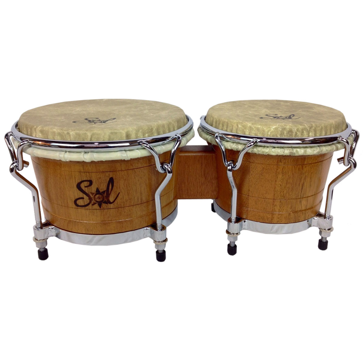 "Sol Percussion Limited Edition 7"" & 8.5"" USA Pro Mahogany Bongos"