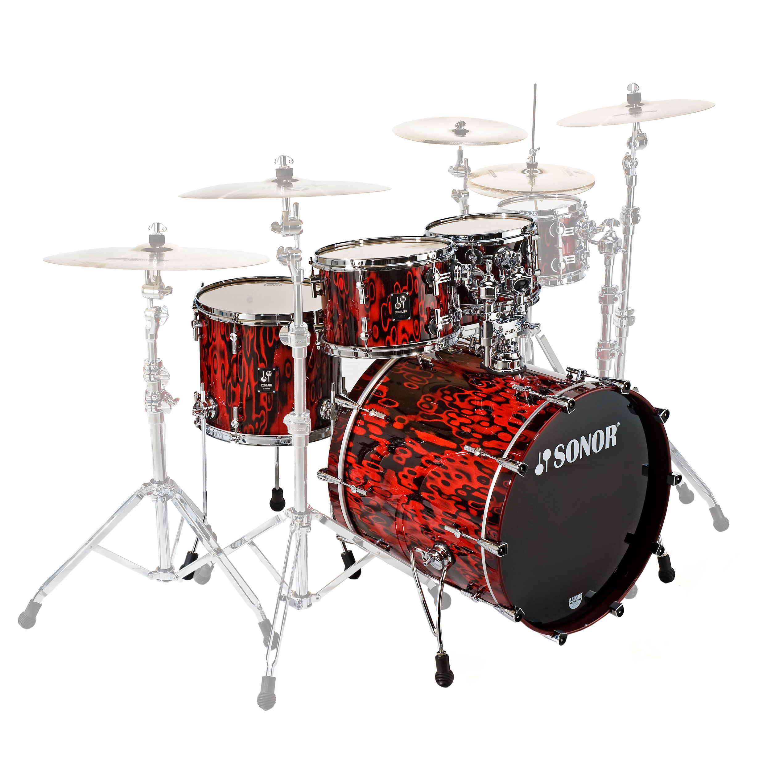 "Sonor ProLite Studio 1 4-Piece Drum Set Shell Pack (20"" Bass, 10/12/14"" Toms)"