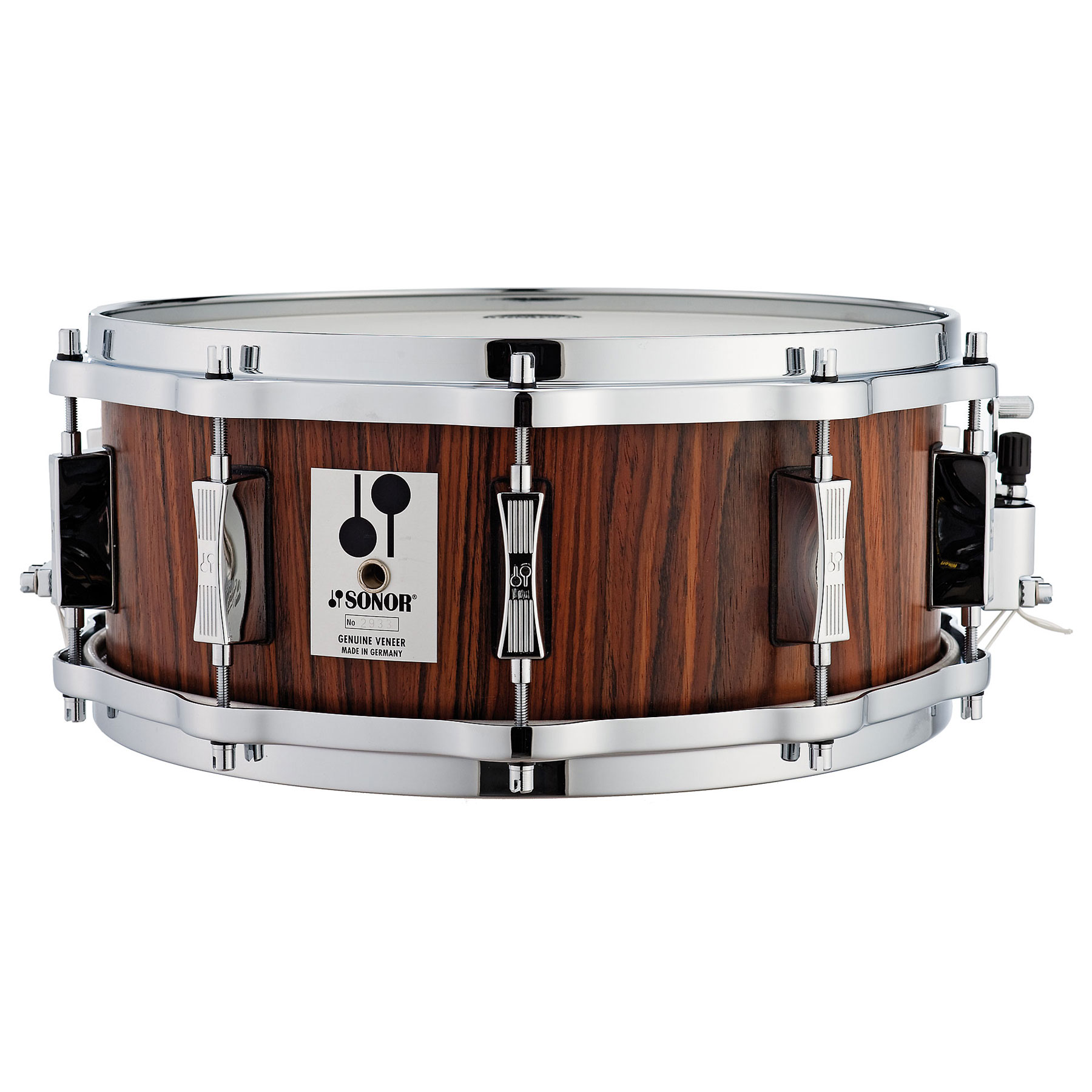 "Sonor 14"" x 5.75"" Phonic Re-Issue Beech Snare Drum with Rosewood Veneer"
