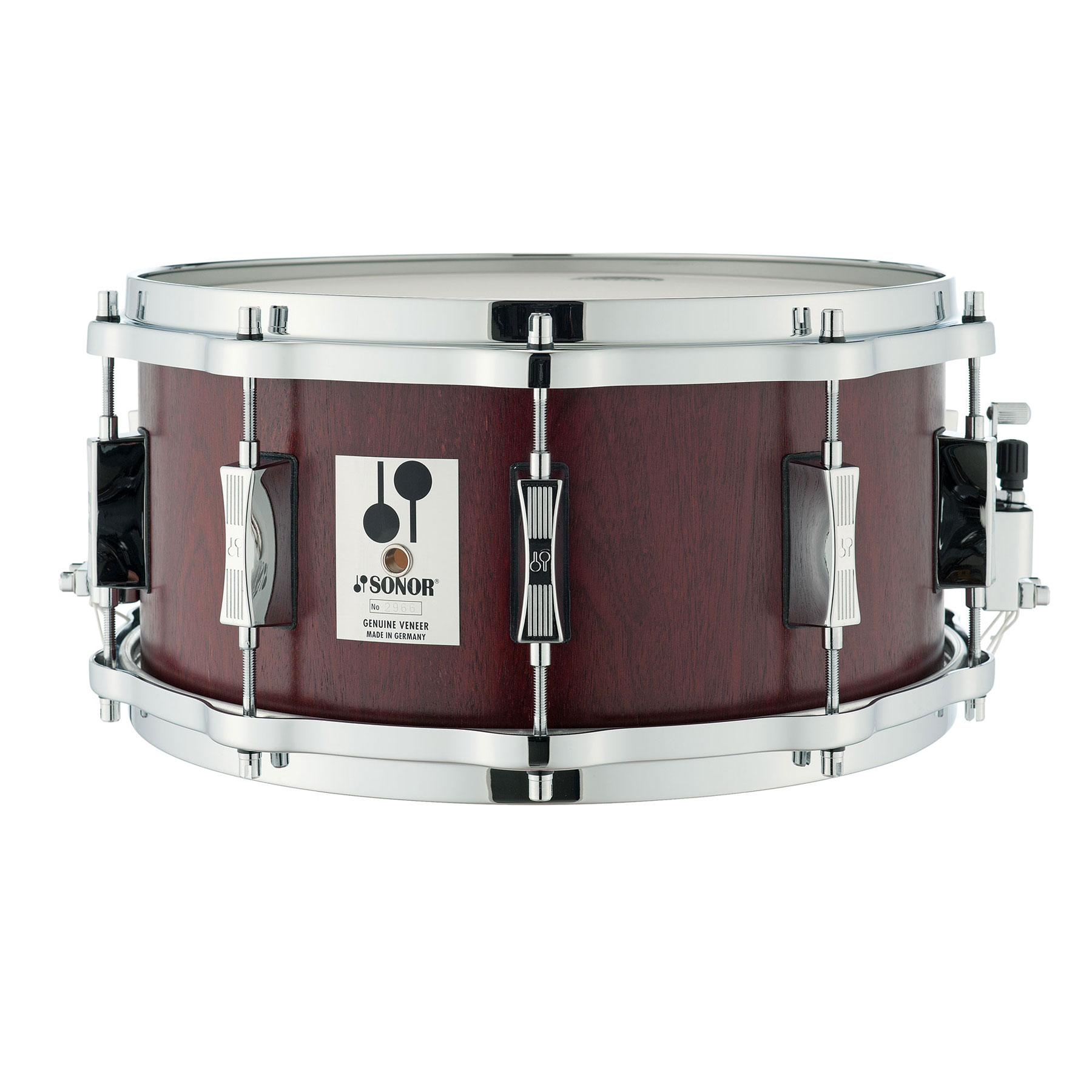 "Sonor 14"" x 6.5"" Phonic Re-Issue Beech Snare Drum with Mahogany Veneer"