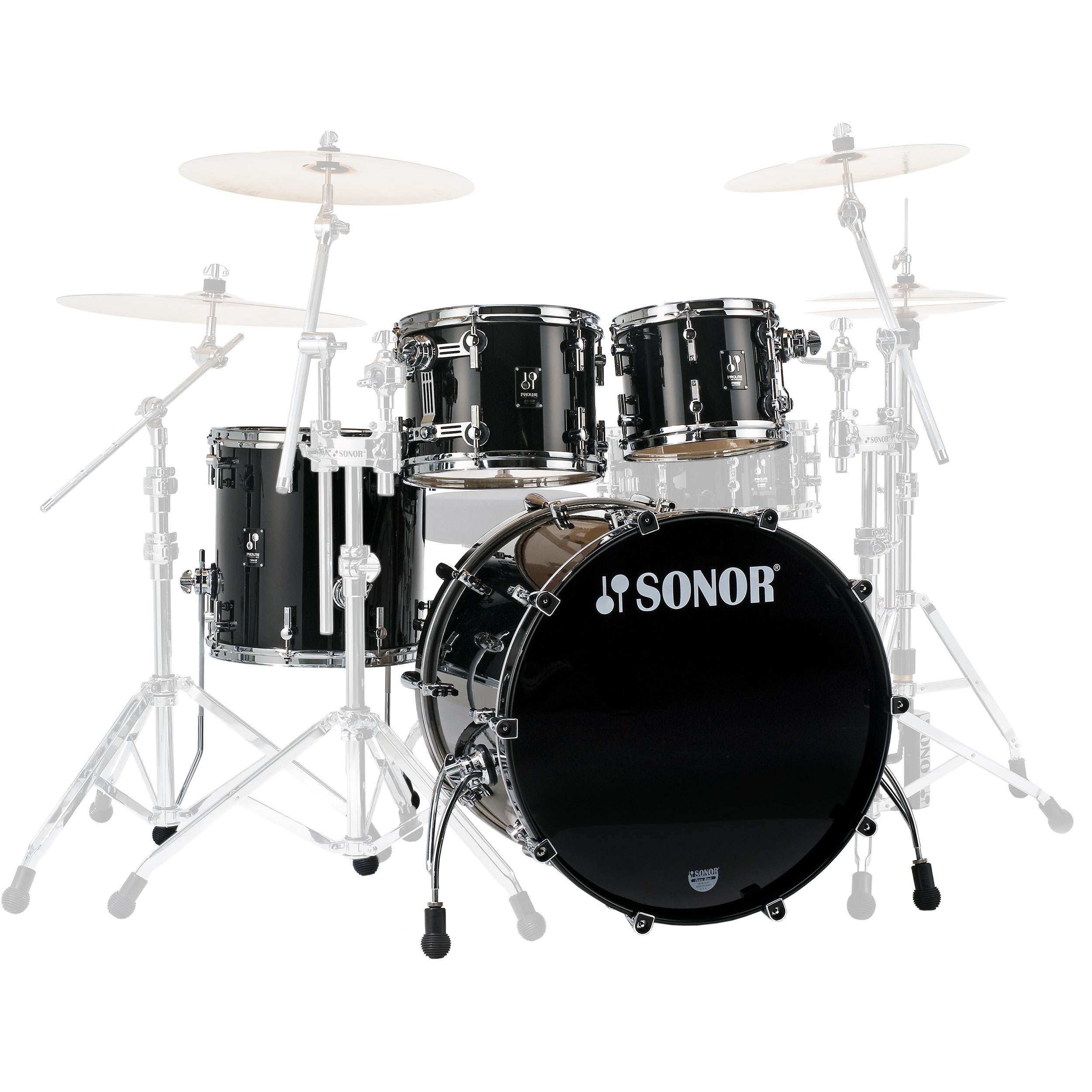 "Sonor ProLite Stage 3 4-Piece Drum Set Shell Pack (22"" Bass, 10/12/16"" Toms)"