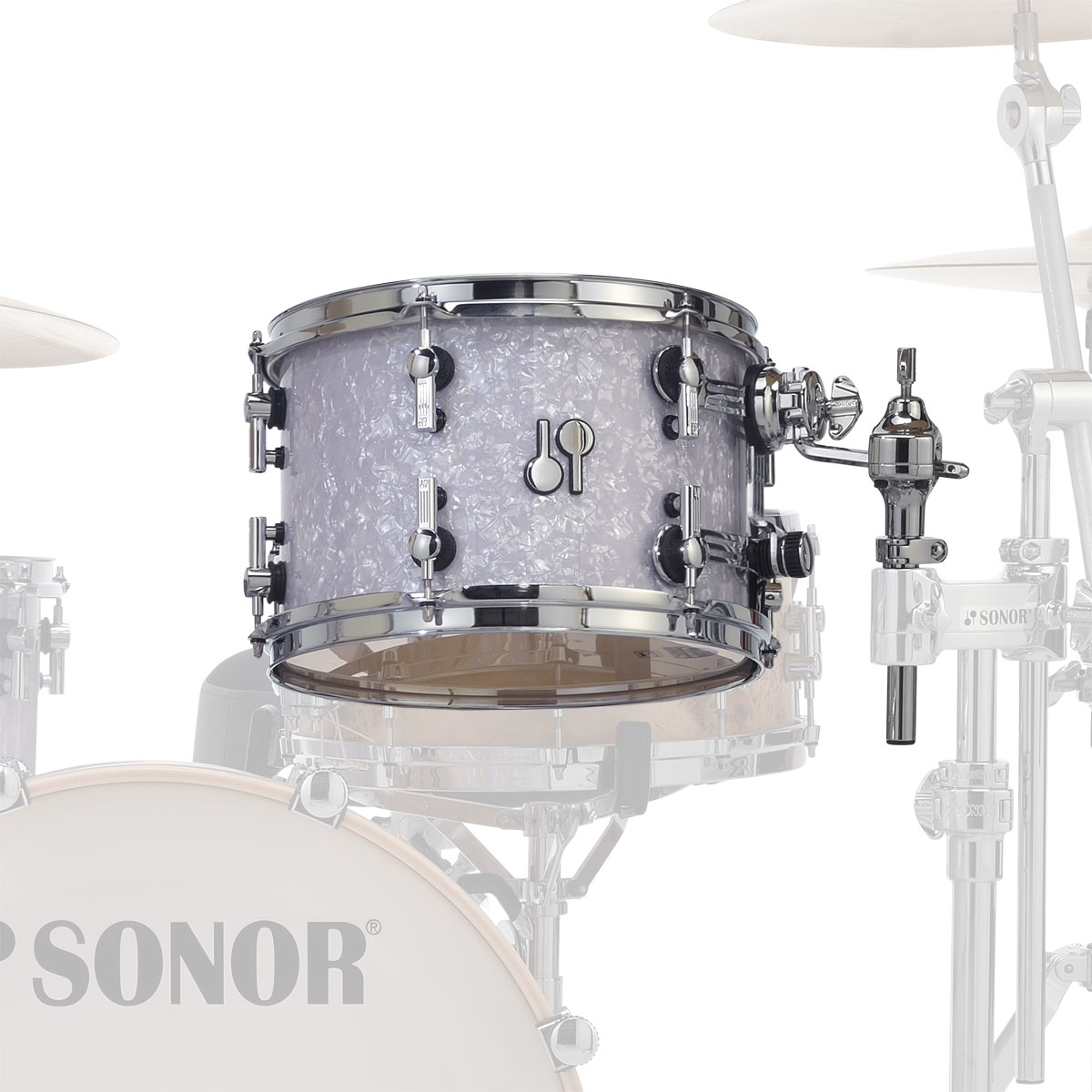 "Sonor 12"" (Diameter) x 8"" (Deep) SQ2 Vintage Maple Tom"