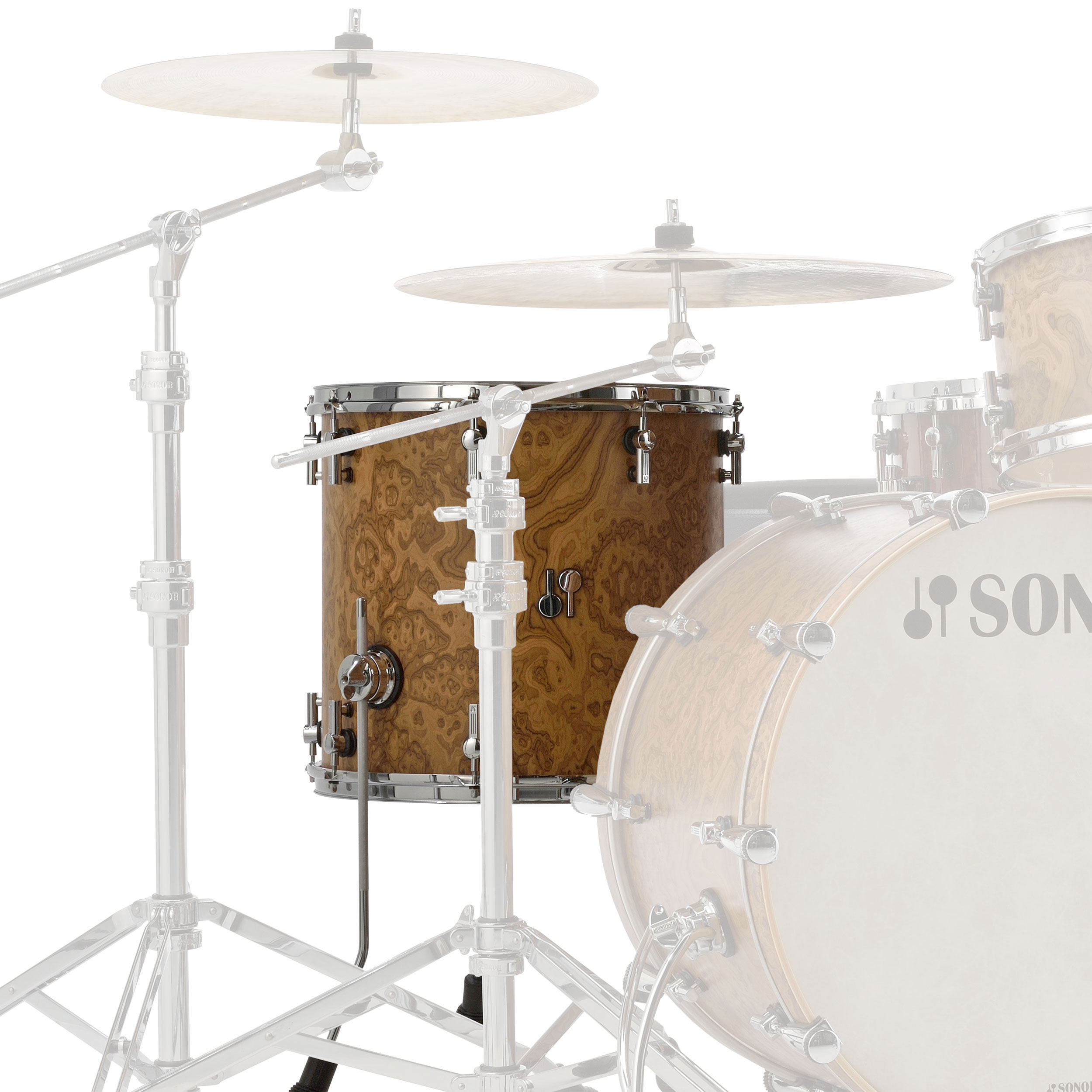 "Sonor 14"" (Diameter) x 13"" (Deep) SQ2 Vintage Maple Floor Tom"