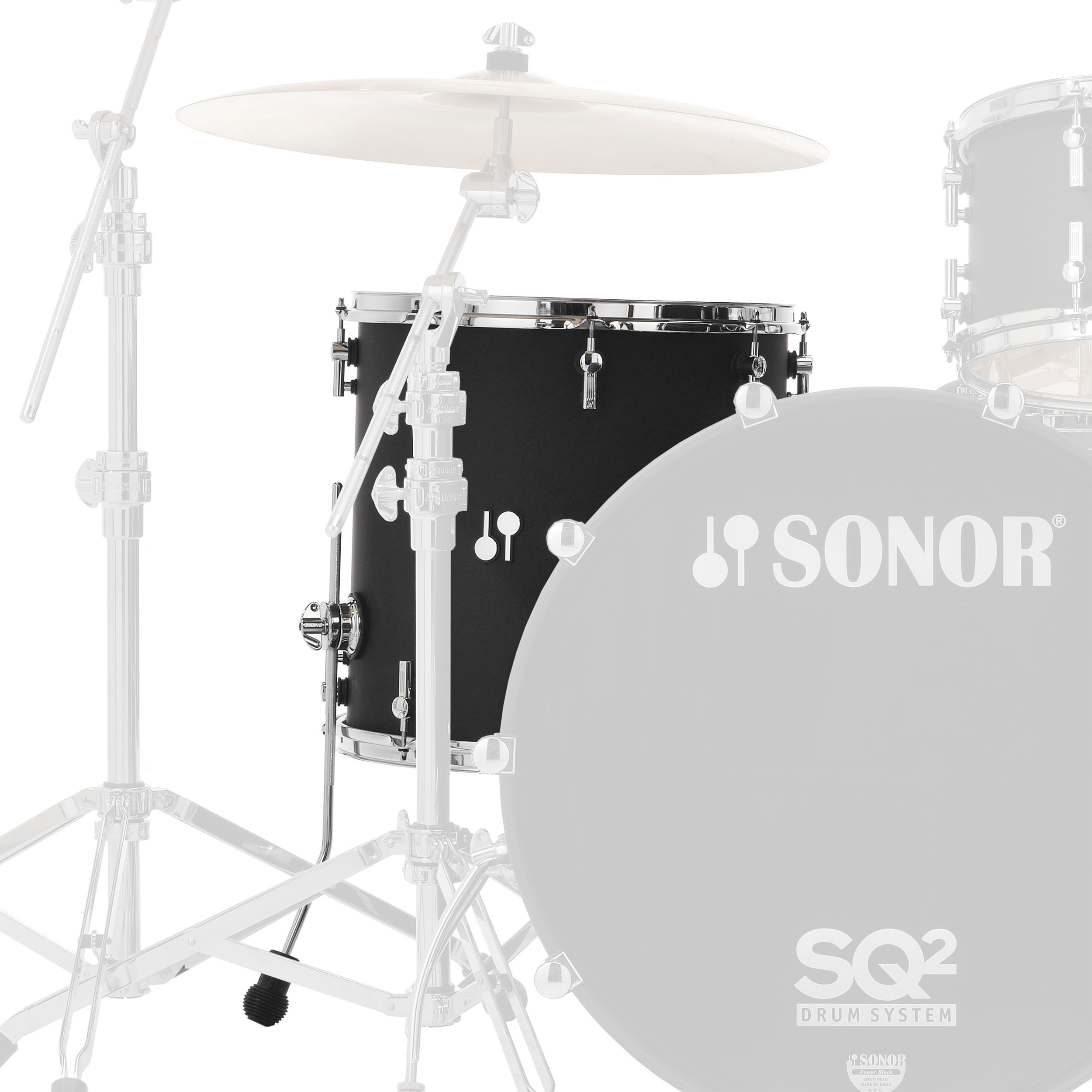 "Sonor 16"" (Diameter) x 15"" (Deep) SQ2 Vintage Maple Floor Tom"