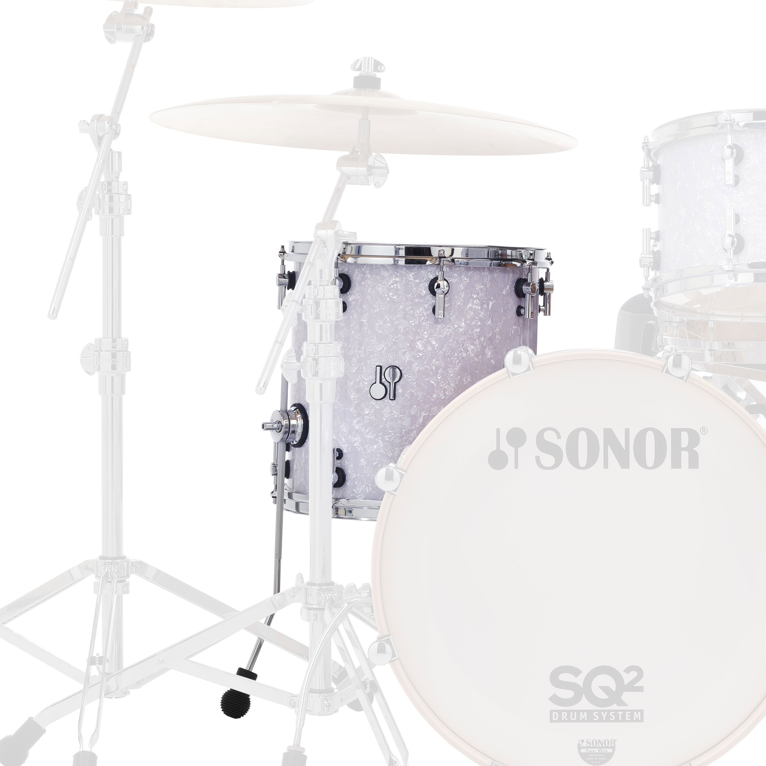 "Sonor 18"" (Diameter) x 17"" (Deep) SQ2 Vintage Maple Floor Tom"