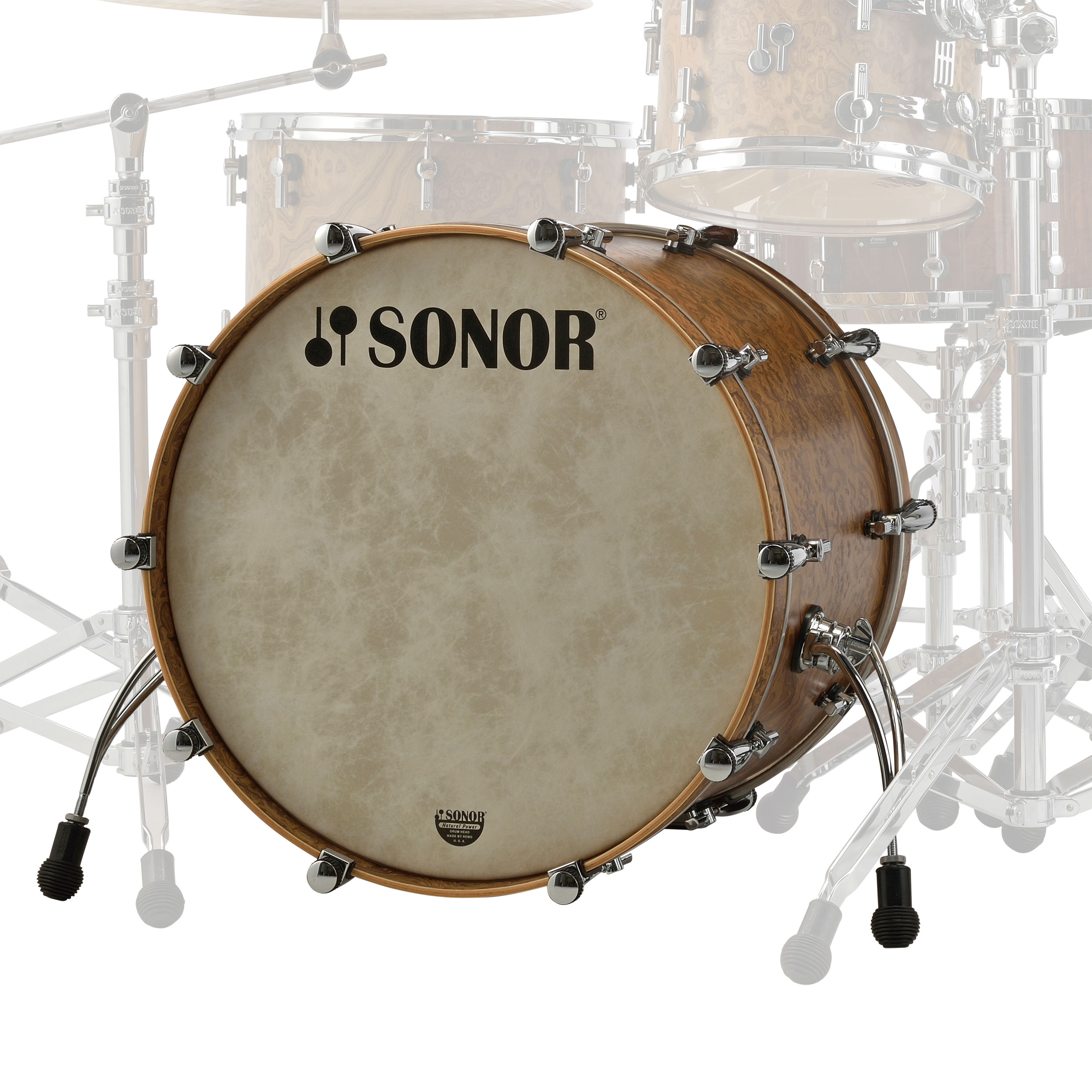 "Sonor 24"" x 14"" SQ2 Vintage Maple Bass Drum"
