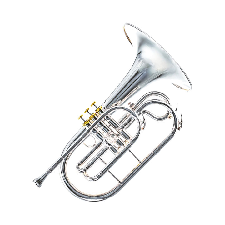 System Blue Professional Marching Series F Mellophone