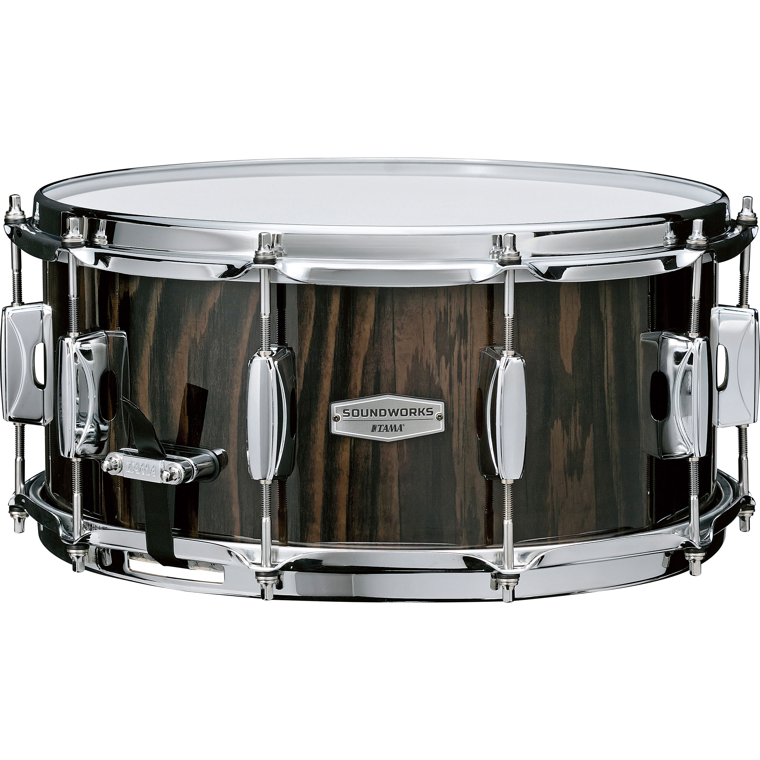 "Tama 6.5"" x 14"" Limited Edition Soundworks Maple Snare Drum in Black Lacebark Pine"