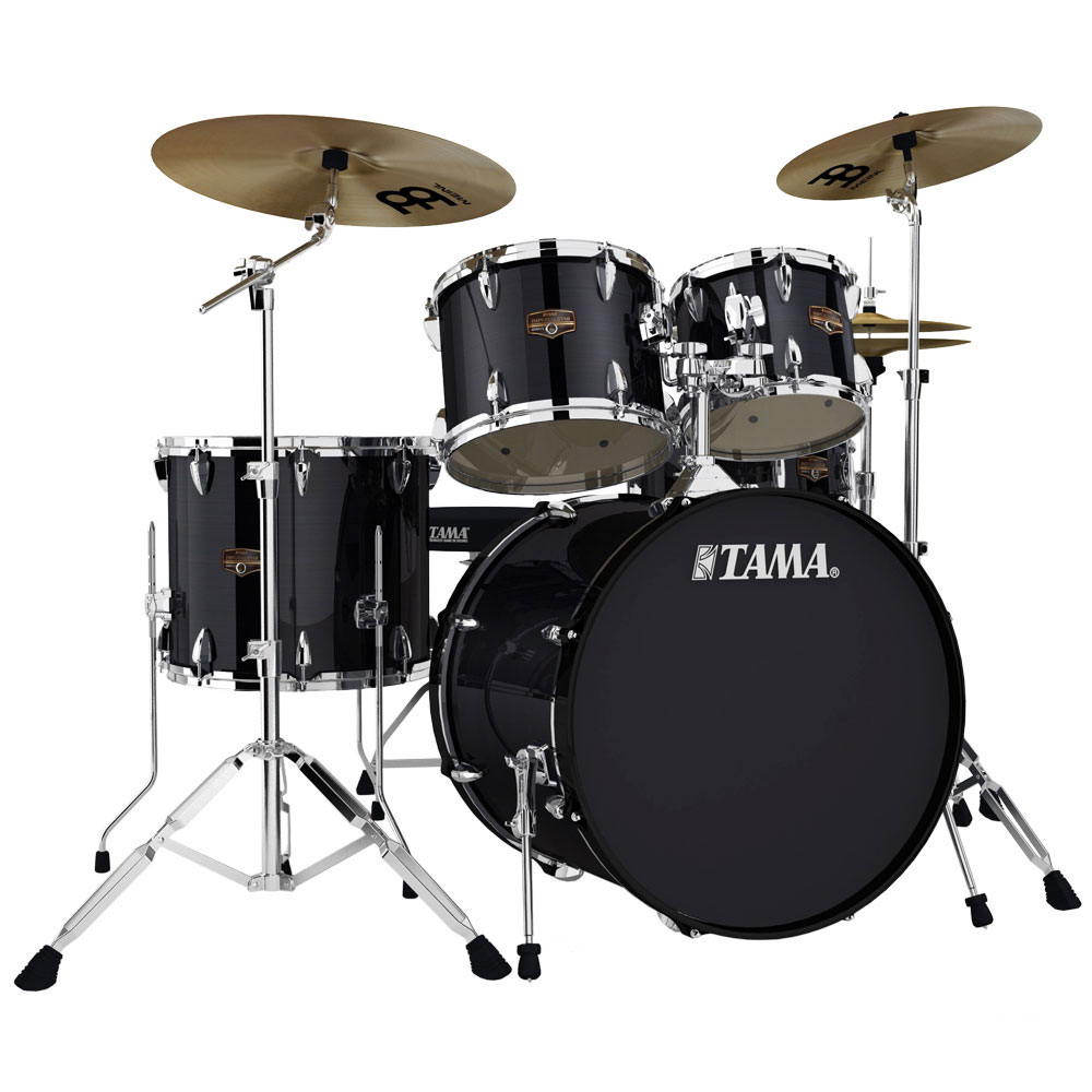 """Tama Imperialstar 5-Piece Drum Set with Hardware and Cymbals (22"""" Bass, 10/12/16"""" Toms, 14"""" Snare)"""
