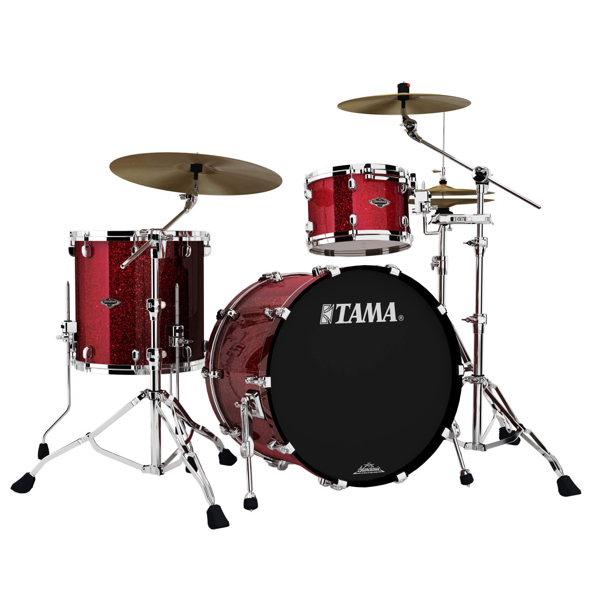 "Tama Starclassic Performer B/B 3-Piece Drum Set Shell Pack (22"" Bass, 12/16"" Toms) in Sparkle Finish"