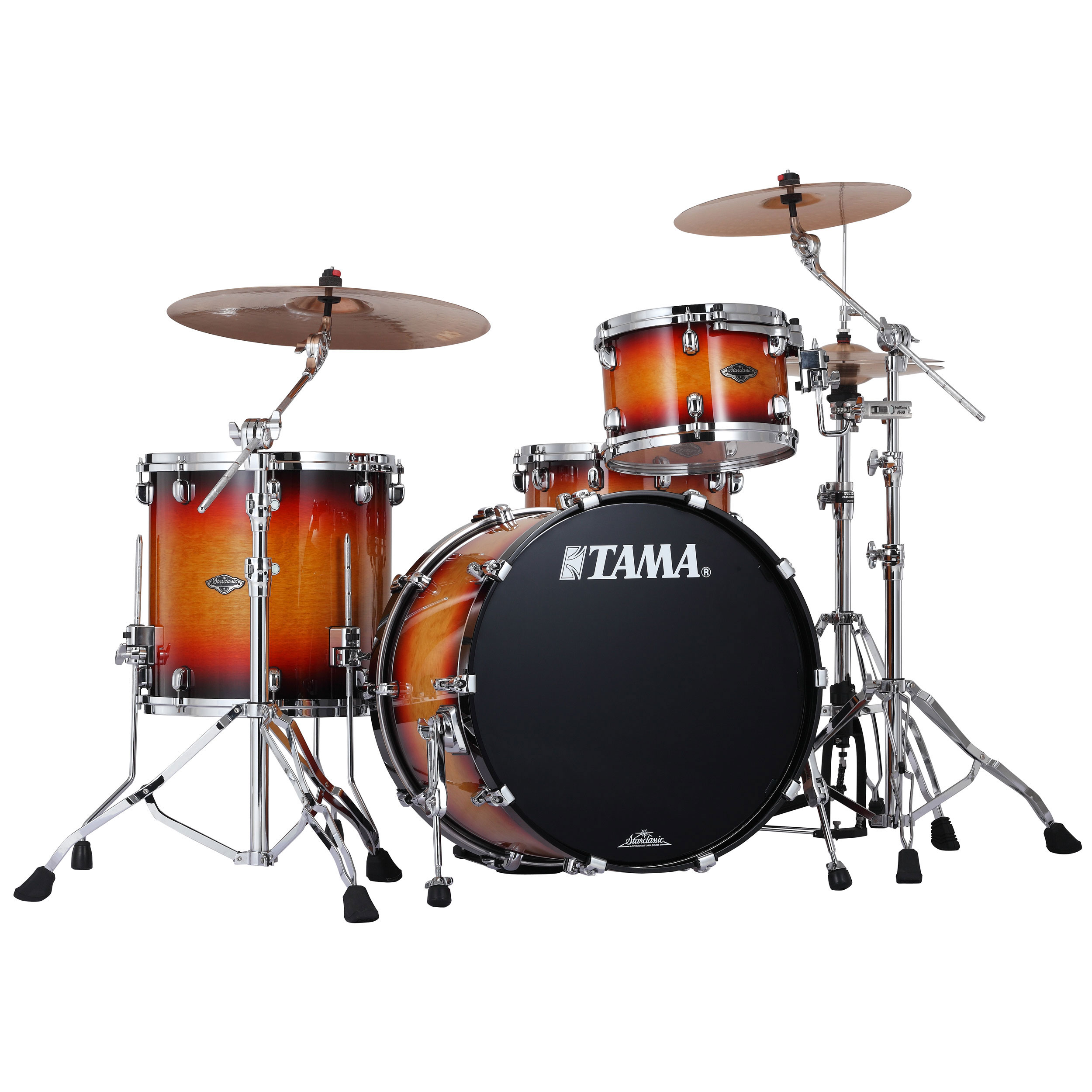 "Tama Starclassic Performer B/B 3-Piece Drum Set Shell Pack (22"" Bass, 12/16"" Toms) in Transparent/Solid Finish"