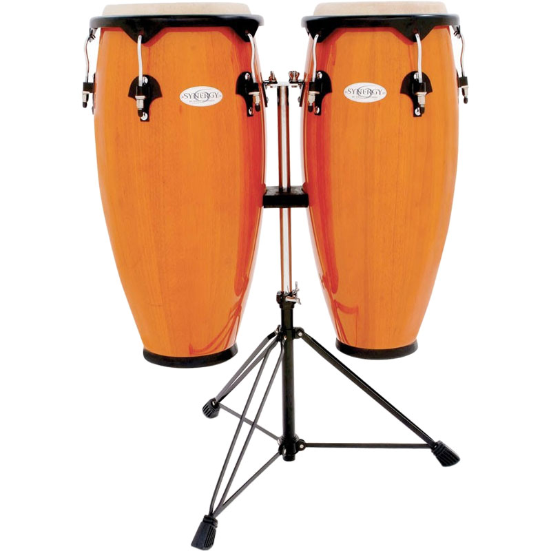 "Toca 10"" & 11"" Synergy Congas with Double Stand in Amber"