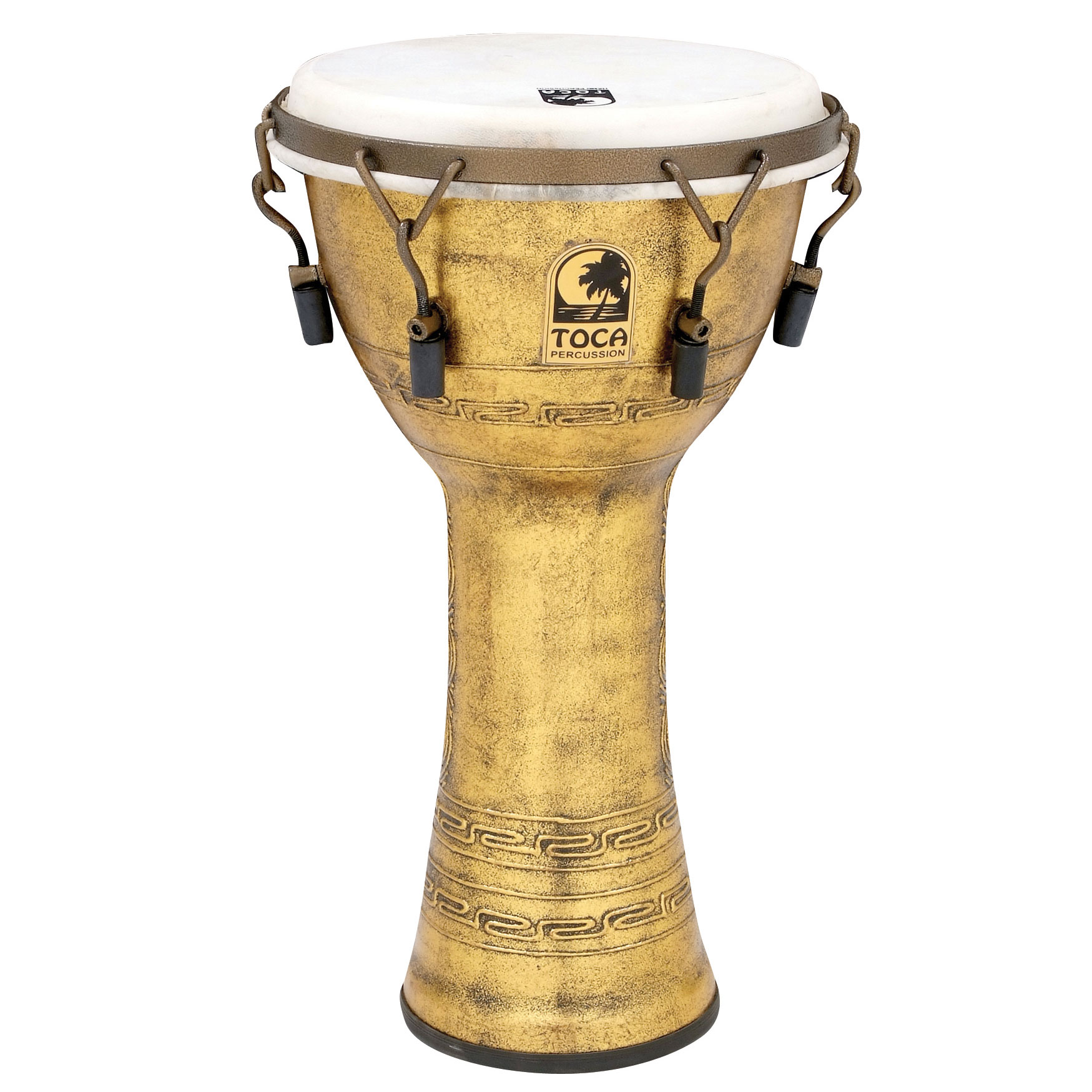 "Toca 10"" Freestyle Mechanically-Tuned Djembe with Extended Rim"
