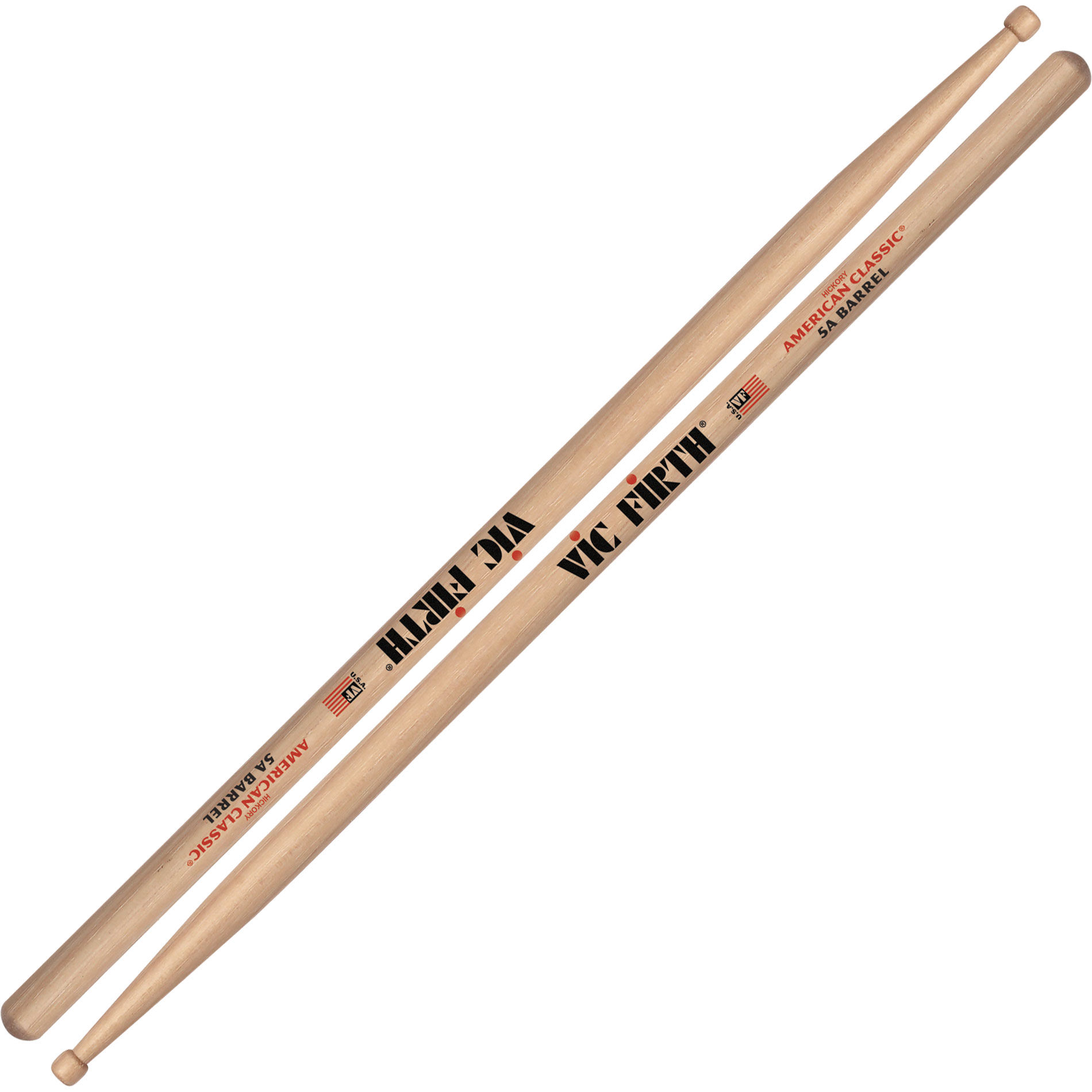 vic firth american classic 5a barrel tip drumsticks 5abrl. Black Bedroom Furniture Sets. Home Design Ideas