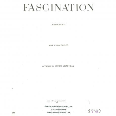 Fascination by Marchetti arr. Perry Chappell