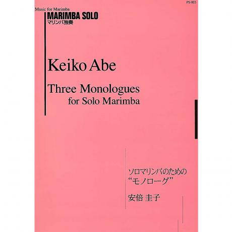 Three Monologues for Solo Marimba by Keiko Abe