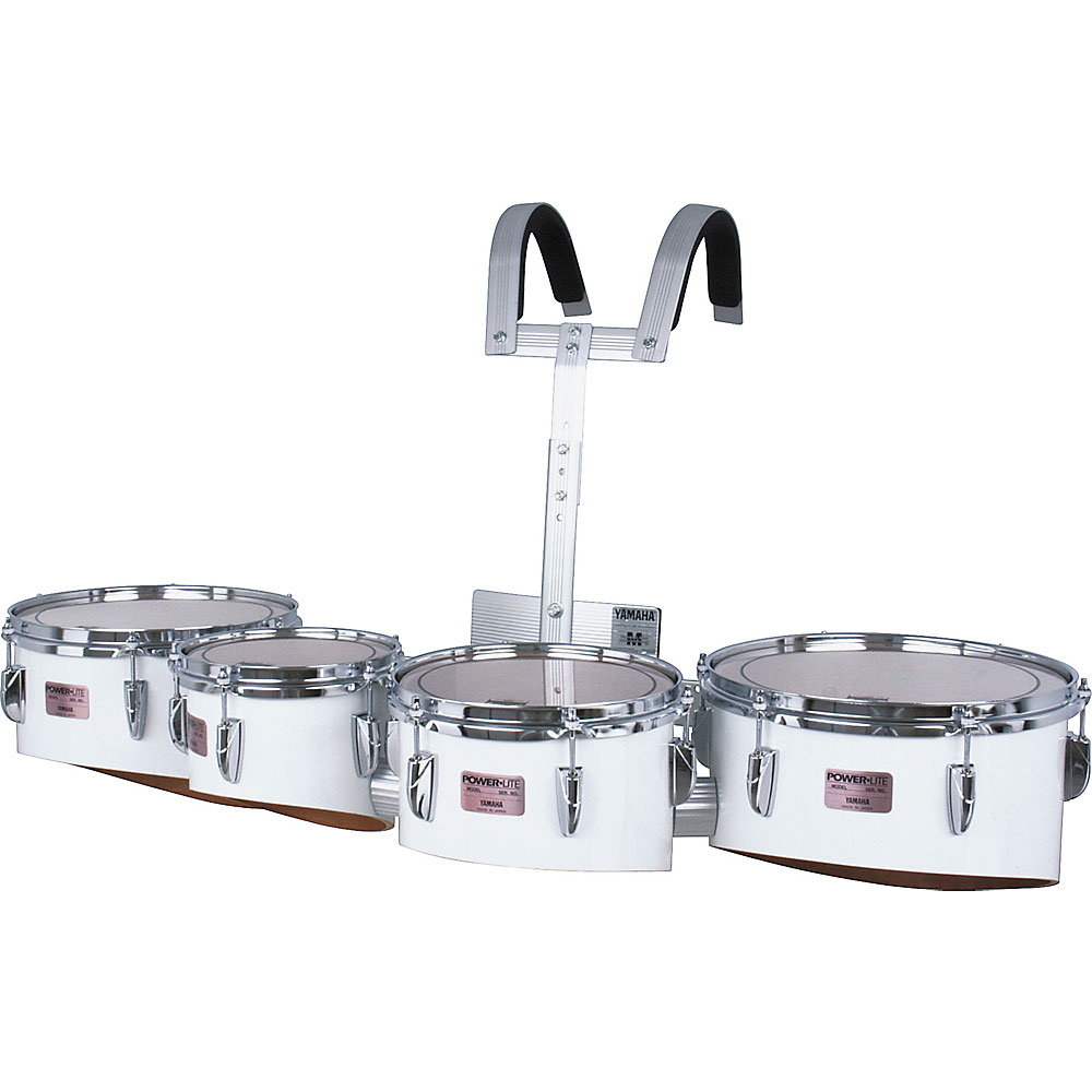 """Yamaha 8-10-12-13"""" Power-Lite Drums/Carrier Marching Tenor Bundle"""